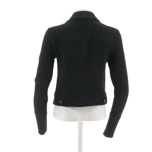 Halston French Terry Motorcycle Jacket Rib A285191