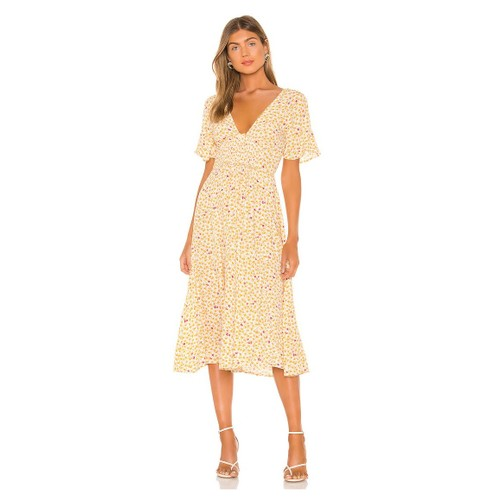 Free People Women's In Full Bloom Dress Ivory Natural Size Large