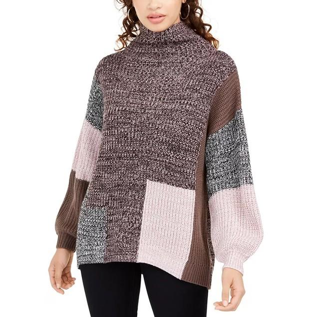 American Rag Juniors' Colorblocked Sweater Pink Size Medium