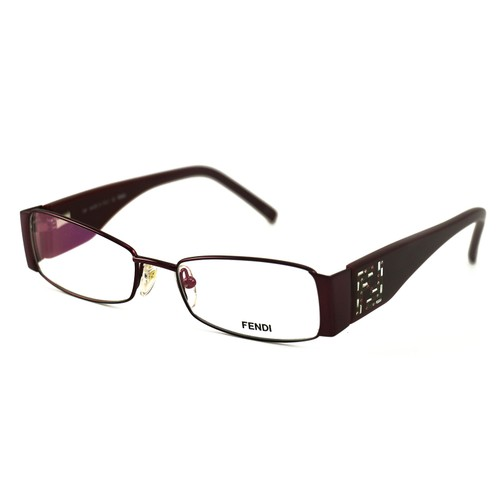Fendi Women's Eyeglasses F923R 509 Wine 50 16 135 Metal Full Rim