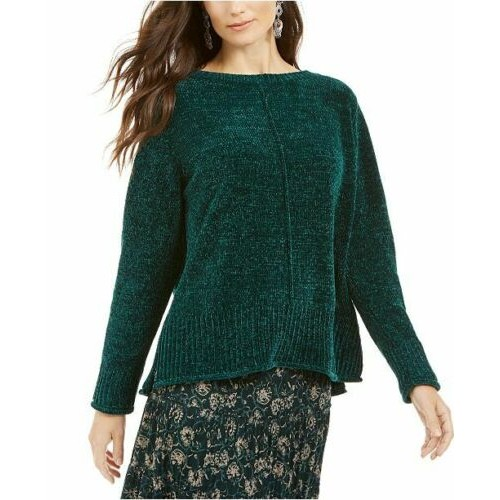Style & Co Chenille Women's Sweater Green Size Extra Small