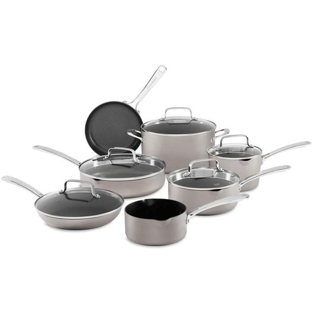KitchenAid 12-Piece Non-Stick Pour & Strain Aluminum Cookware Set