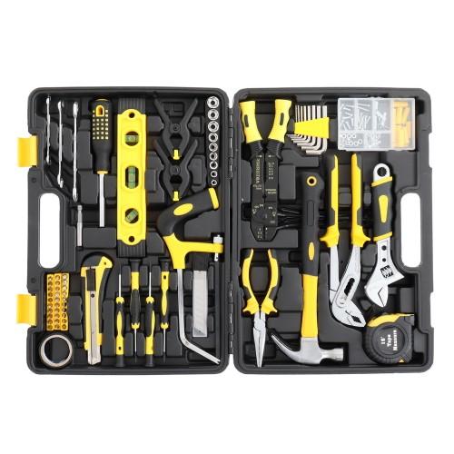 218Pcs Black Iron Household Tool Set Black