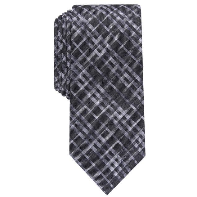 Bar III Men's Cooper Skinny Plaid Tie Navy Size Regular