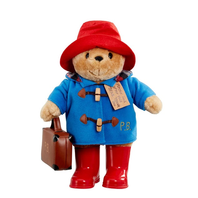 Large Classic Paddington Bear with Boots and Suitcase