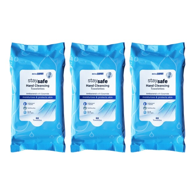 62% Alcohol Antibacterial Hand Wipes (60, 120, and 180 Count)