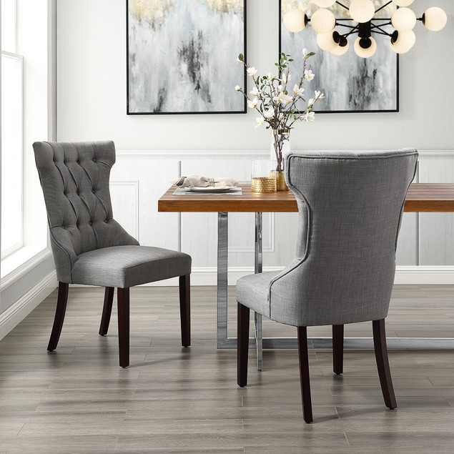 Morgan Velvet Wingback Tufted Dining Chair (Set of 2)