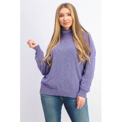 Karen Scott Women's Marled Cotton Turtleneck Sweater Purple Size X-Large