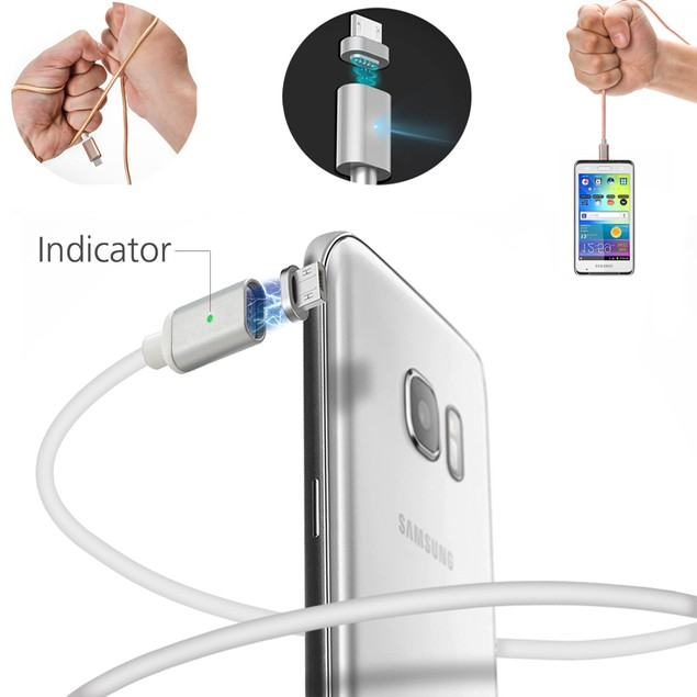 Magnetic Micro USB SYNC Data Charging Cable Charger Adapter for Android