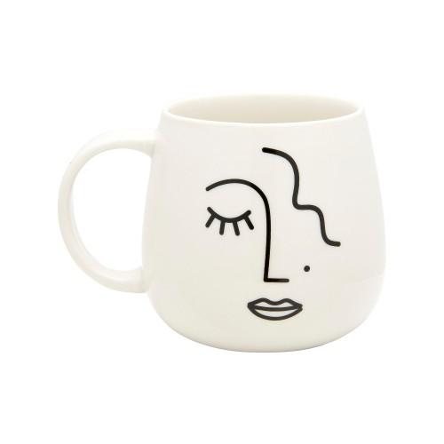 Sass and Belle Abstract Face Mug