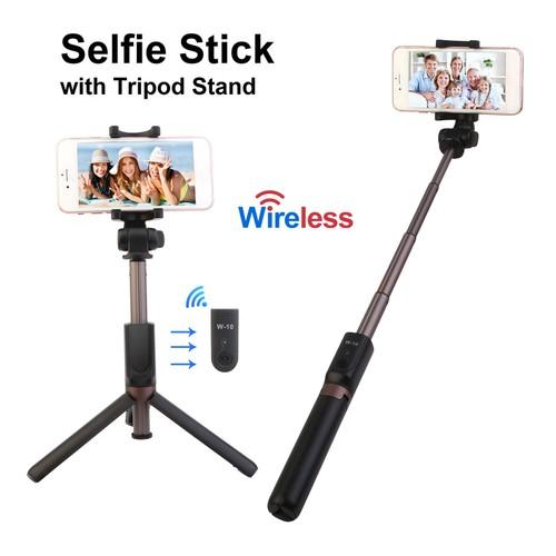 Wireless Selfie Stick Extendable Phone Camera Stick Tripod
