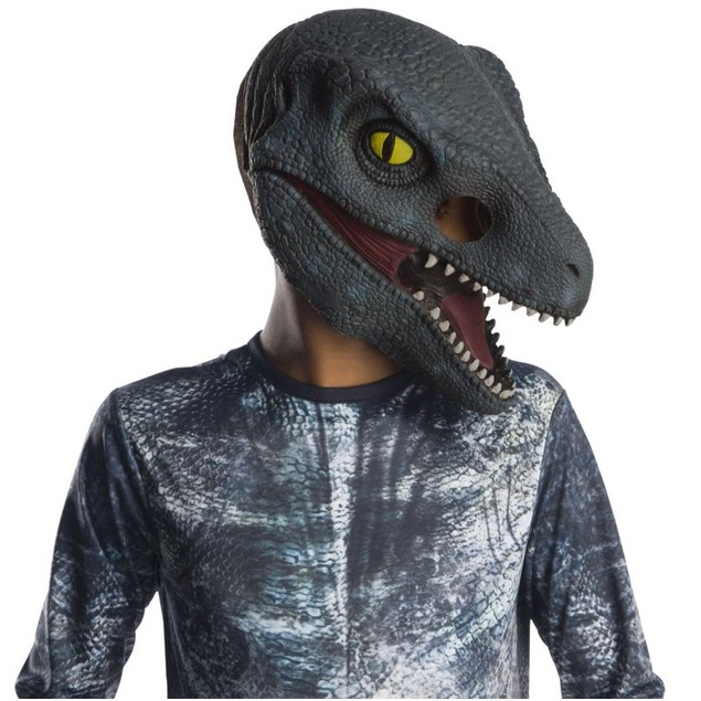 "Jurassic World Velociraptor ""Blue"" Child 3/4 Vinyl Mask"