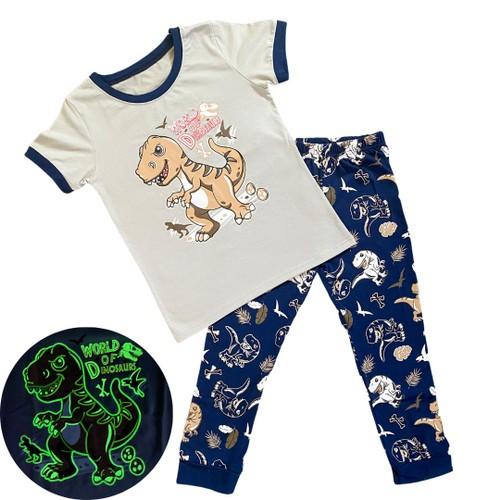 Glow in the Dark Dino Pajamas - Snug Fit