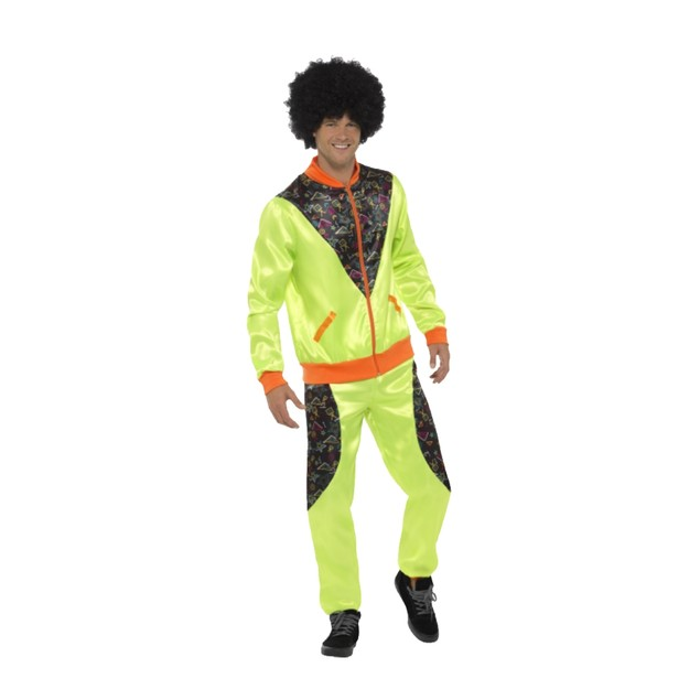 Neon Green 80's Track Suit Adult Costume
