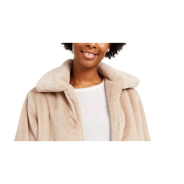 Say What? Juniors' Faux-Fur Jacket Brown Size X-Large