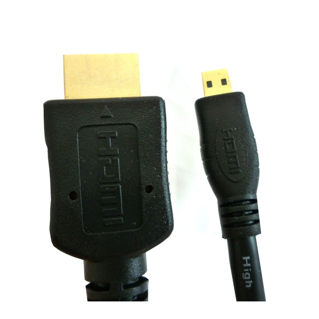 Micro HDMI to Regular HDMI - 6 Feet (2 Meters) HDMI 1.4 A to D Connectors