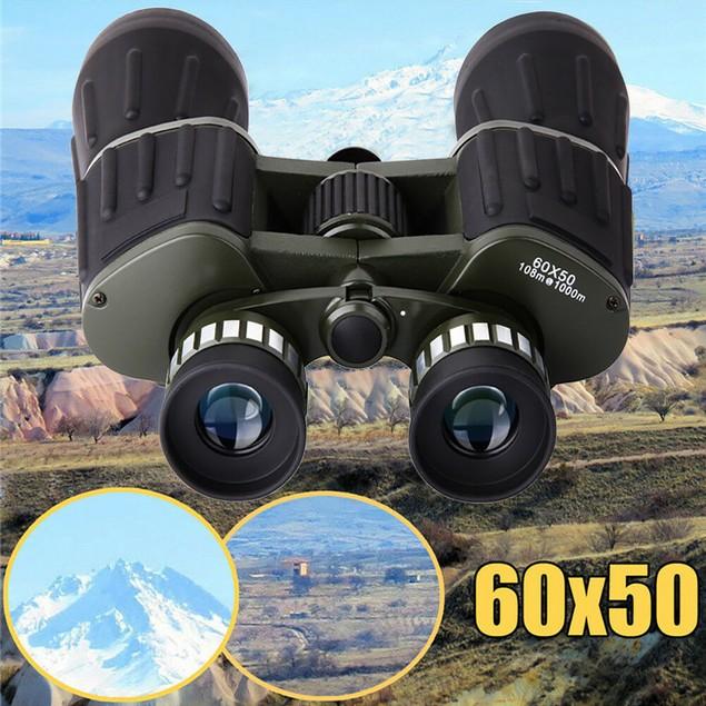 60x50 Day/Night Military Army Zoom Optics Hunting Camping Binoculars