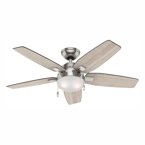 """Hunter Antero 46"""" Integrated LED Indoor Brushed Nickel Ceiling Fan with"""