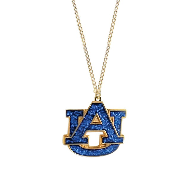 Cleanlapsports Auburn Tigers Glitter Necklace