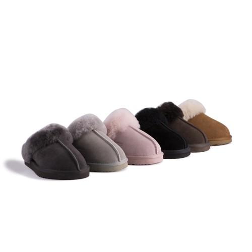 Aus Wooli Australia Unisex Genuine AU Sheepskin Wool Slippers