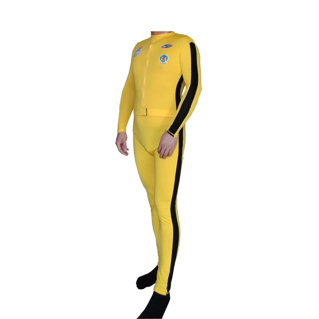 The Bride Yellow With Black Stripe And Patches Adult Costume
