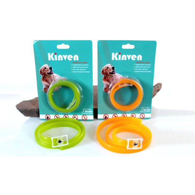 Kinven Flea and Tick Collar For Dogs and Cats (2-Pack)