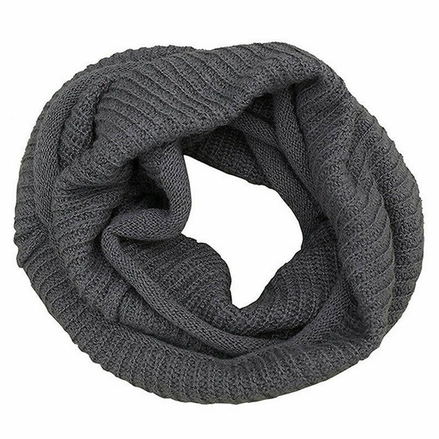 Loop Scarf Winter Warm Thick Ribbed Knit Infinity Circle For Men Women