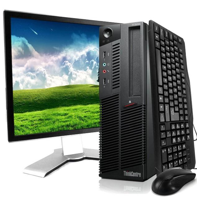 "Lenovo M91P Desktop Intel i5 8GB 1TB HDD Windows 10 Home 19"" Monitor"