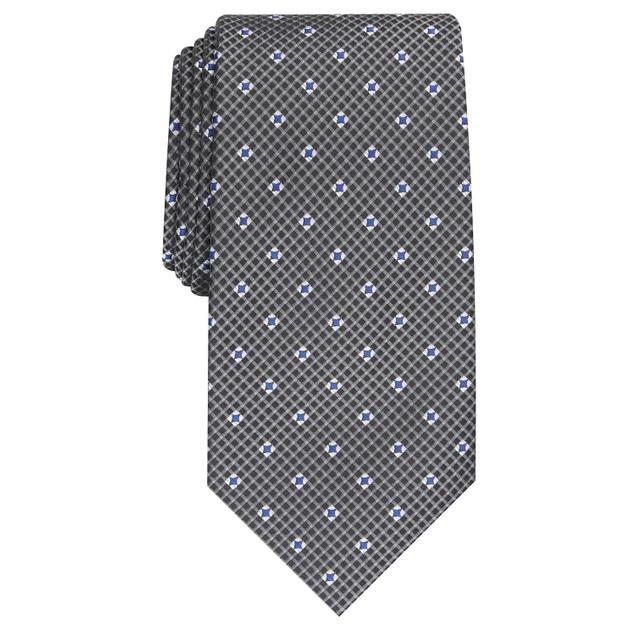 Perry Ellis Men's Howland Neat Tie Gray Size Regular