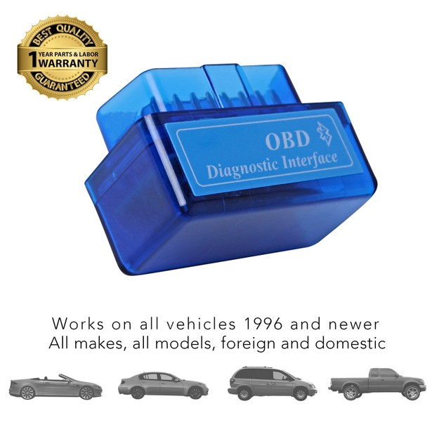 Massimo Bluetooth Car Code Reader and OBD II Scanner Diagnostic Tool