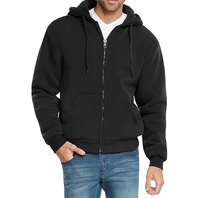 Men's Extra-Thick Sherpa-Lined Fleece Hoodie