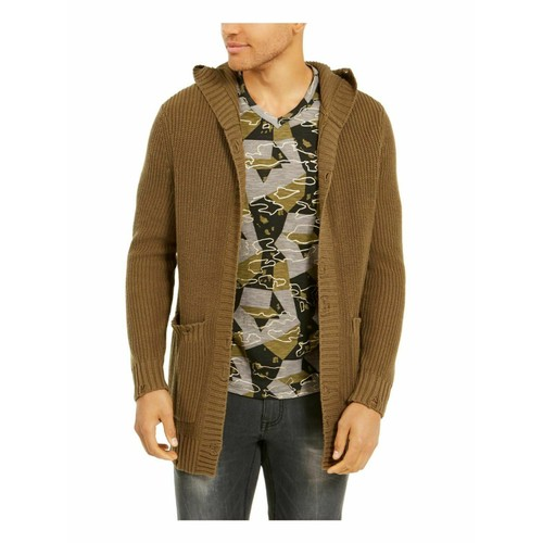 Inc Men's Hooded Cardigan Green Size Small