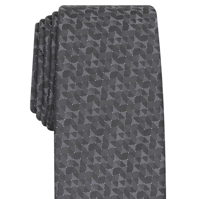 Alfani Men's Slim Geo Tie Black Size Regular