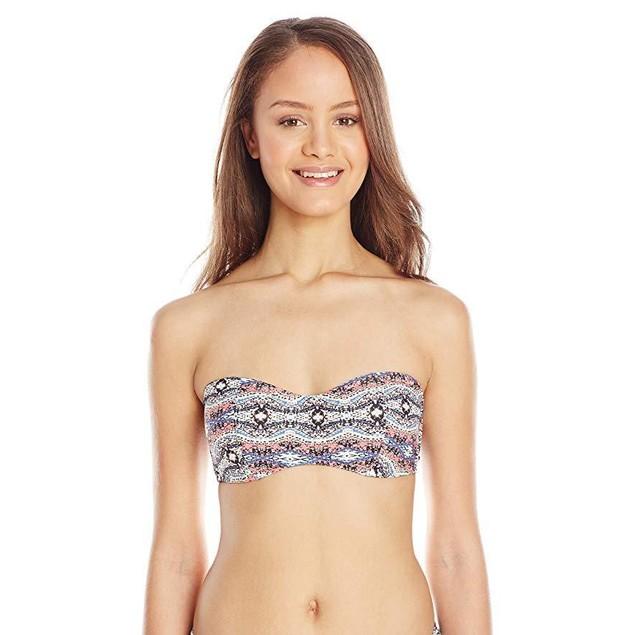Volcom Women's Wild Yonder Bandeau Bikini Top, Mauve, X-Large