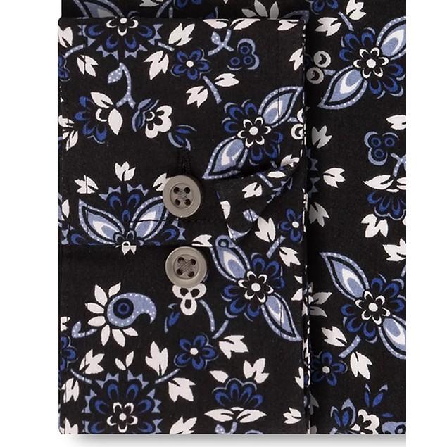 Sean John Men's Classic-Fit Graphic Dress Shirt Blue Size 16-32-33
