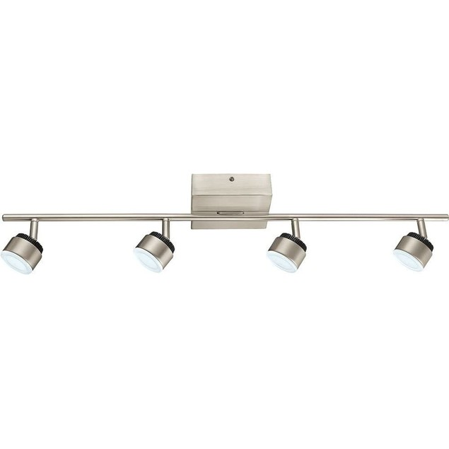 "Eglo 30.71"" Satin Nickel Finish Dimmable Integrated LED Track 4 Lighting"