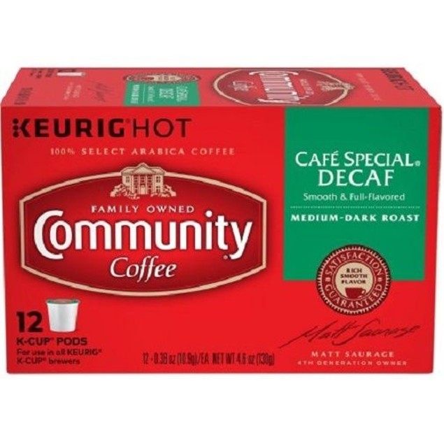 Community Coffee Cafe Special Decaf Coffee Keurig K Cup 2 Box Pack