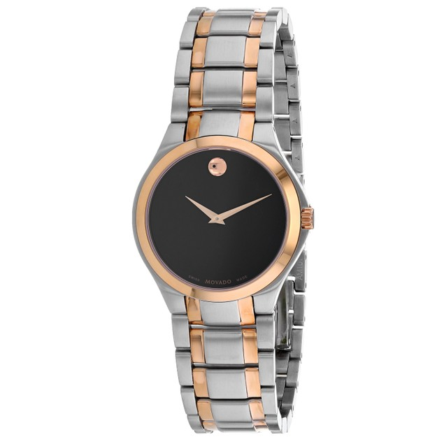 Movado Women's Classic Black Dial Watch - 607084