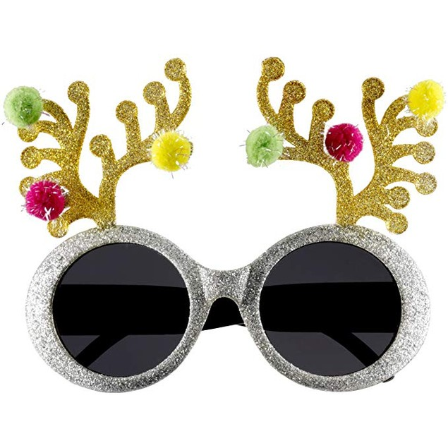 Christmas Reindeer Antler Sunglasses Ugly Sweater Party Xmas Holiday Gift