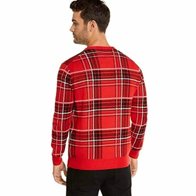 Charter Club Men's Plaid Family Family Sweater Medium Red Size Medium