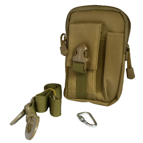 Multifunctional outdoor sports and mobile phone Military Bag Brown 15 Pcs
