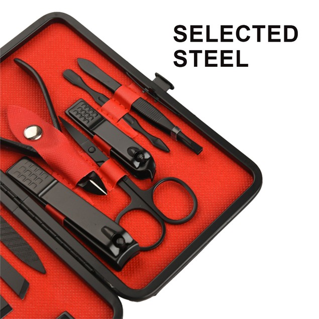 18 in 1 Stainless Steel Manicure Set & Leather Case