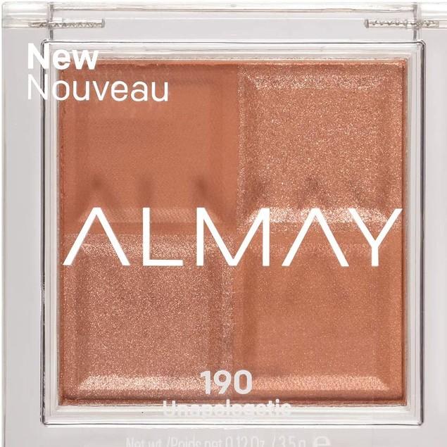 Almay Shadow Squad Pressed Powder Eyeshadow, 190 Unapologetic 0.12oz