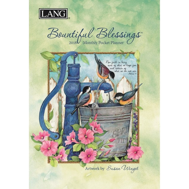 Bountiful Blessings Monthly Pocket Planner, Susan Winget by Calendars