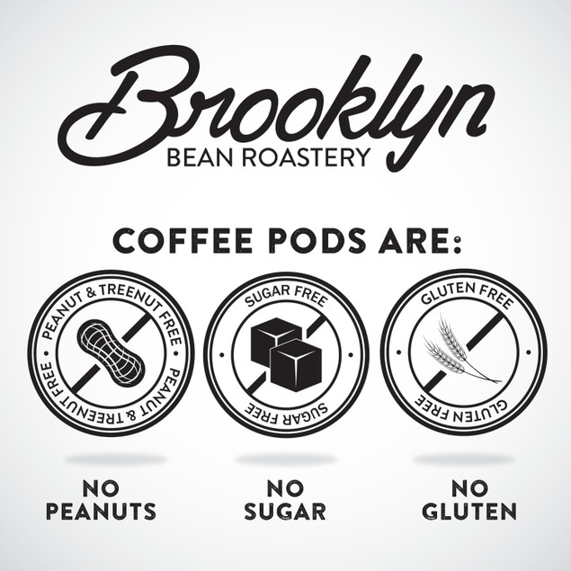 Brooklyn Beans Cinnamon Subway DECAF Coffee Pods for Keurig Brewer,40 Count