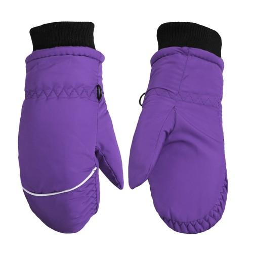 Children Toddlers Fleece Lined Winter Ski Waterproof Gloves- 5 Colors