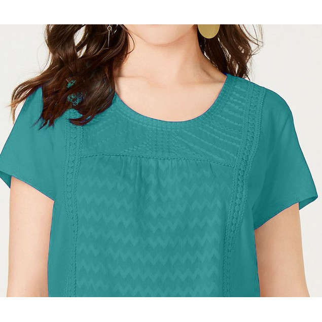 Style & Co Women's Top Green Size  Extra Large