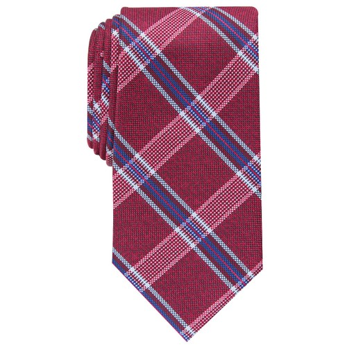 Perry Ellis Men's Dover Plaid Tie Med Purple Size Regular