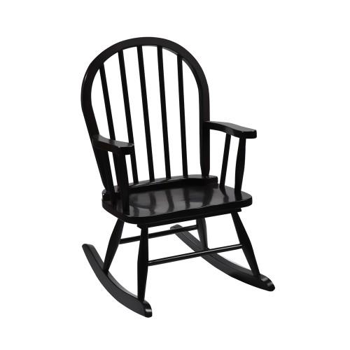 Gift Mark Childrens Windsor Rocking Chair- Espresso Color