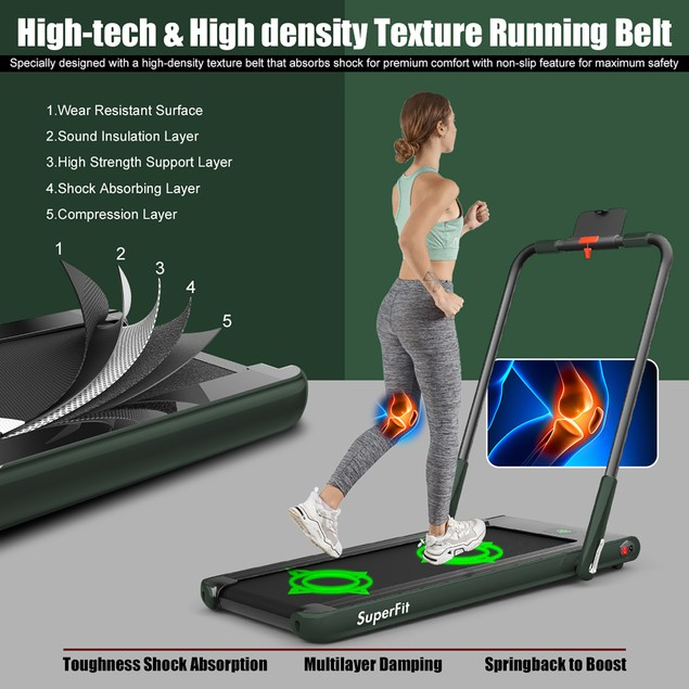 SuperFit 2.25HP Foldable Treadmill with Remote Control